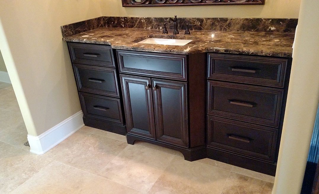 Dark Vanity Cabinetry