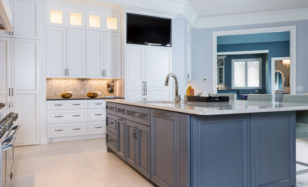 Custom Island and Kitchen Cabinets