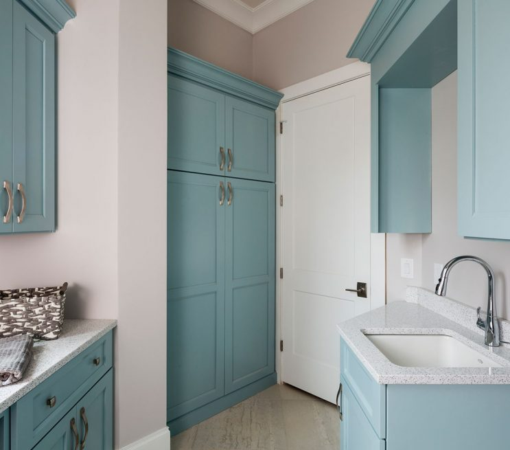 Beautiful Custom Laundry Room Storage